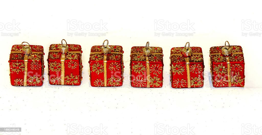 Red ornaments decor royalty-free stock photo