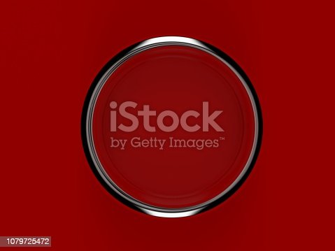 istock Red paint can 1079725472
