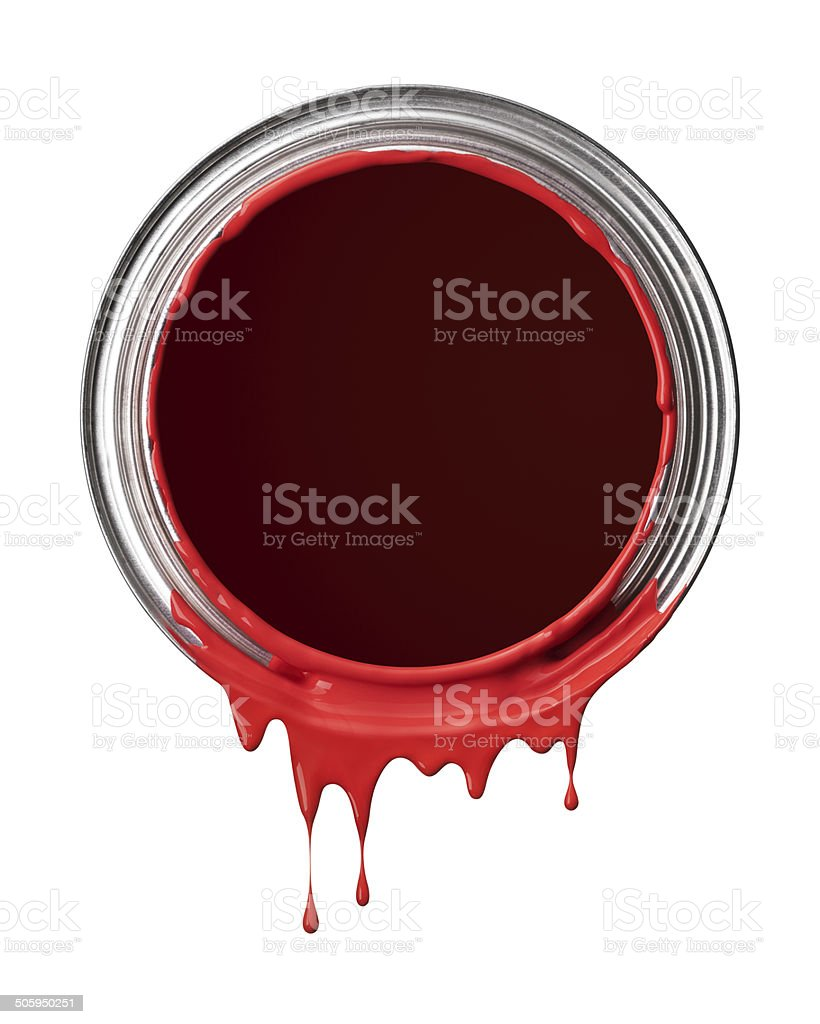 red paint drips royalty-free stock photo
