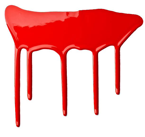 red paint leaking art stock photo