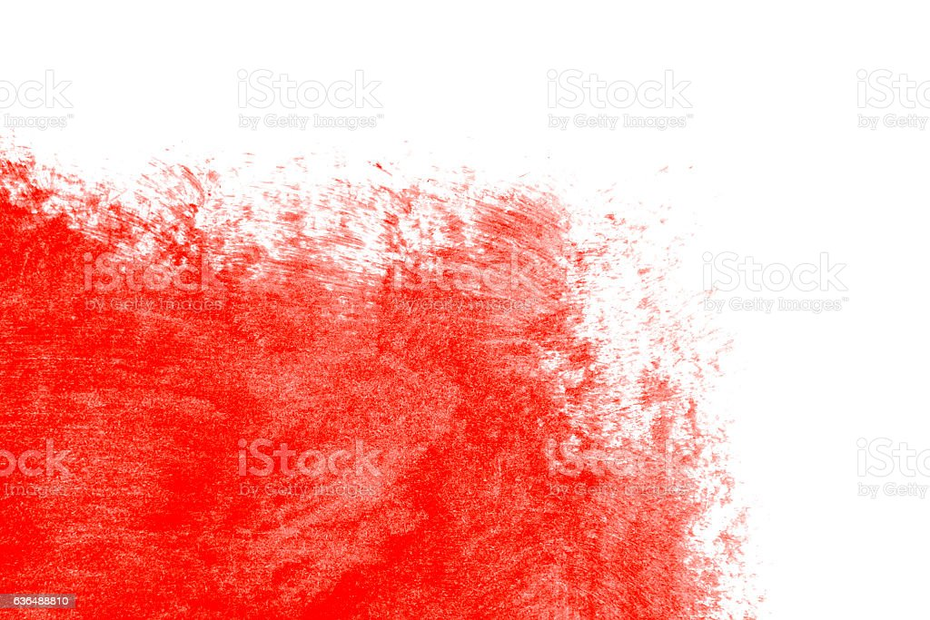 Red paint on a white background stock photo