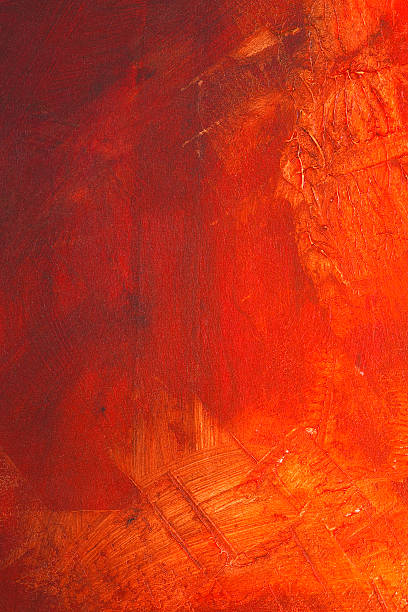 red paint on canvas - tempera painting stock pictures, royalty-free photos & images