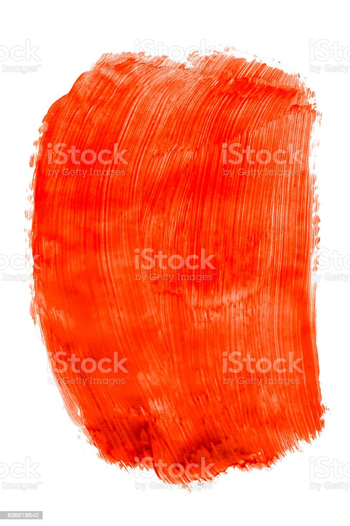 Red paint (isolated on white) stock photo