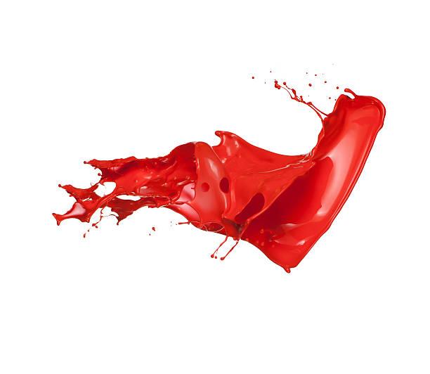 red paint splash - boya stok fotoğraflar ve resimler