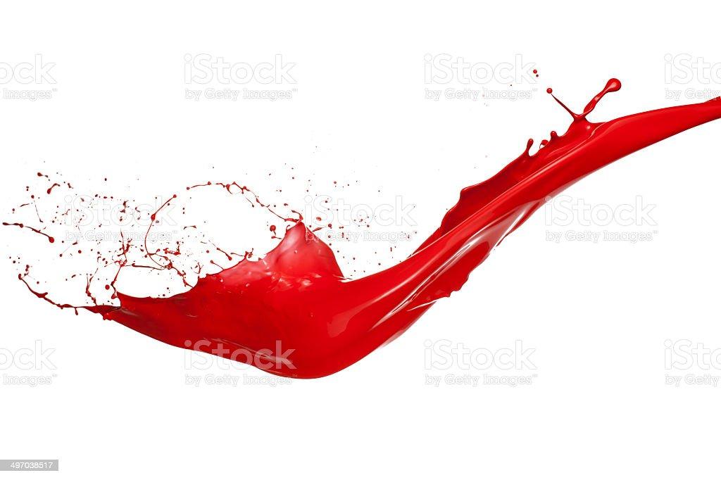 Rote Farbe splash – Foto