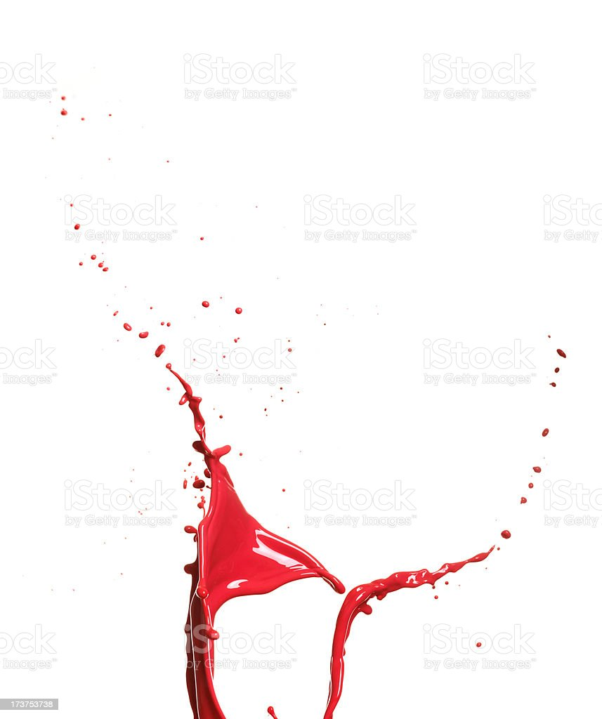 Red paint splashing royalty-free stock photo