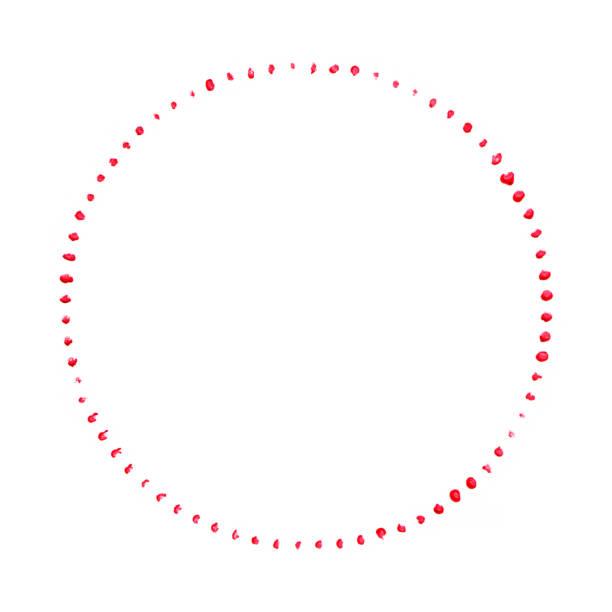 Rote Farbe mit Pinselstrich isoliert auf weißem Hintergrund – Foto