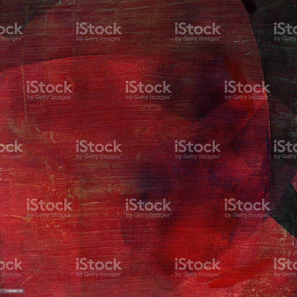 Red Painted Abstract royalty-free stock photo