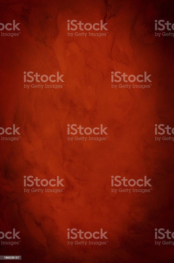 Red Painted Background with Vignette royalty-free stock photo