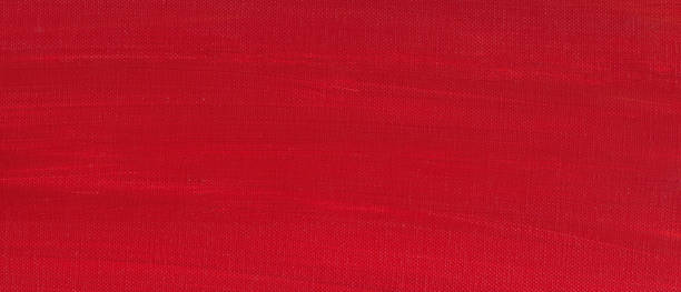 Red Painted Canvas stock photo
