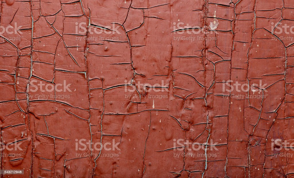Red Painted old wall. Abstract cracked brown texture. Rustic background stock photo