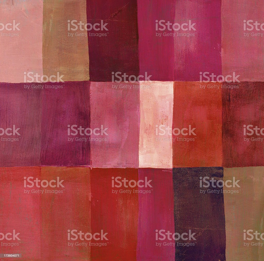 Red Painted Vertical Rectangles royalty-free stock photo