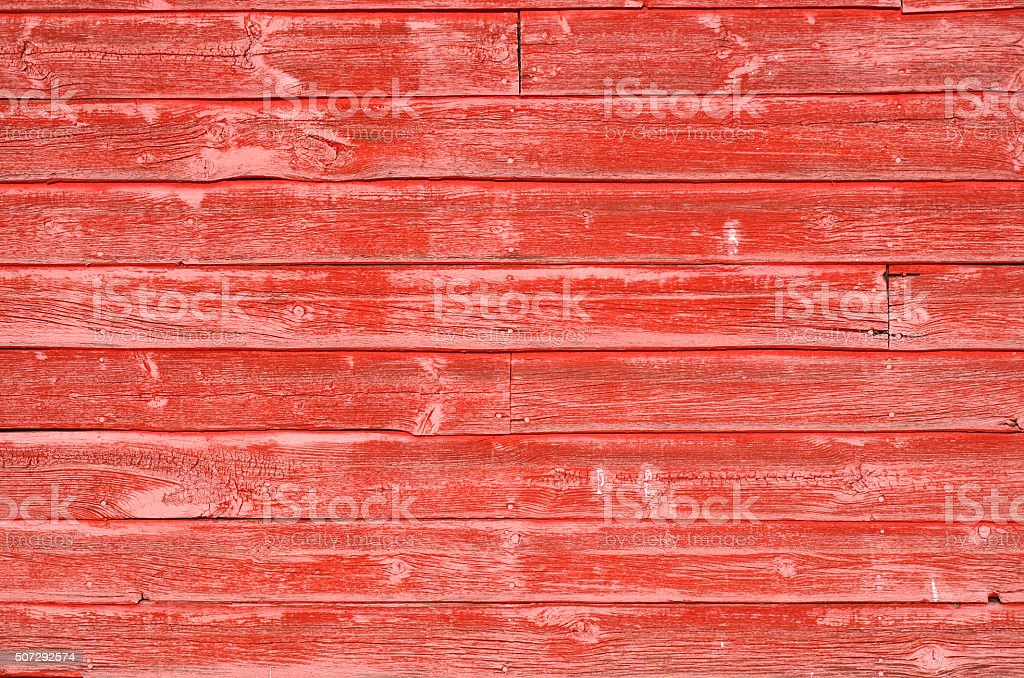 Red Painted Wood stock photo