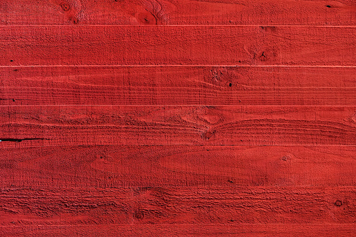 Red painted wood textured