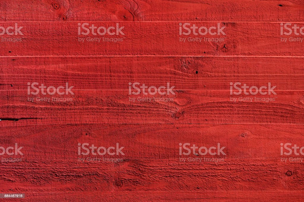 Red painted wood textured stock photo