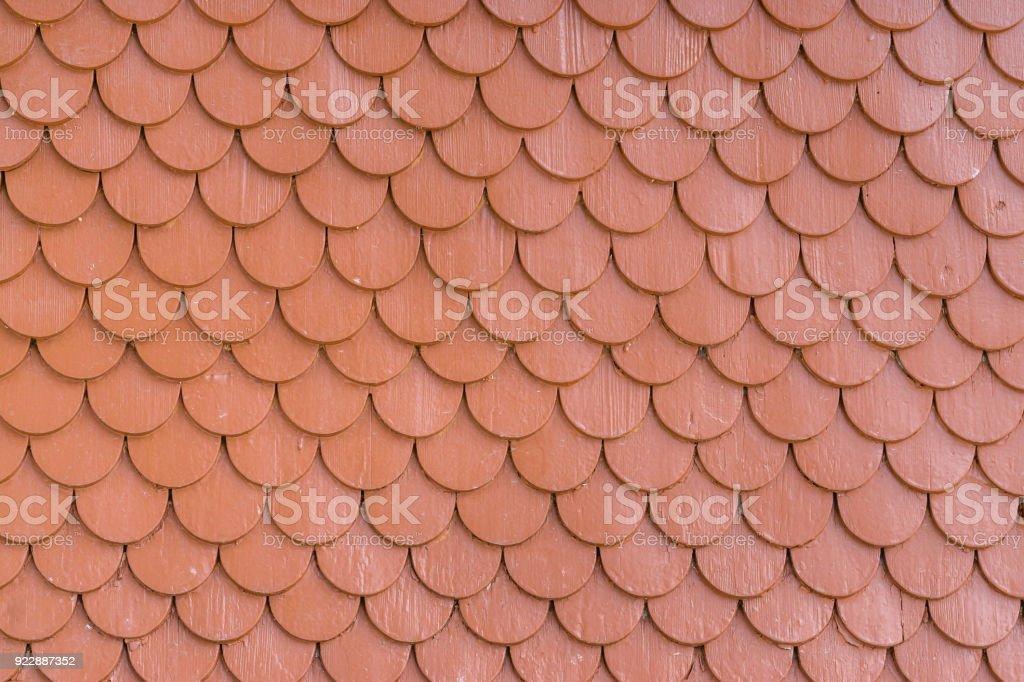 Rot Lackiert Holz Fliesen Dach Wand Textur Hintergrund Stock
