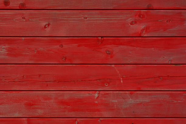 Red painted wooden board texture and background Close up on old painted wood planks board. Color management with Photoshop. redwood tree stock pictures, royalty-free photos & images