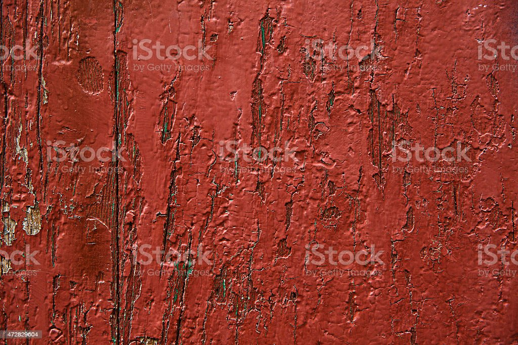 Red painted wooden panel, background, wallpaper stock photo