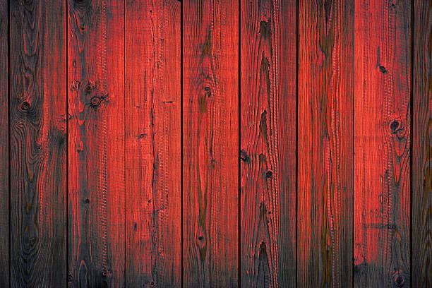 Rote Holz-peeling auf Planken, Textur Hintergrund – Foto