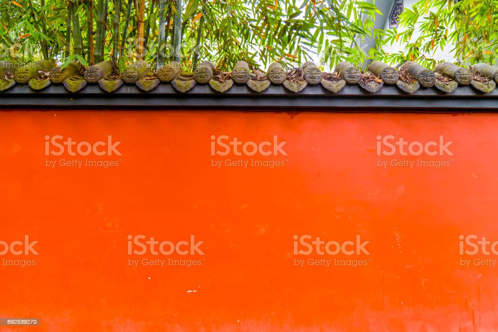 Red palace walls stock photo