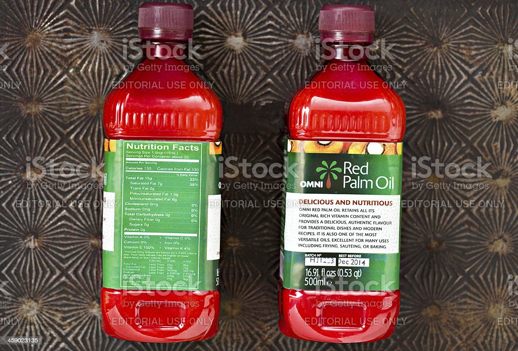 Red Palm Oil royalty-free stock photo