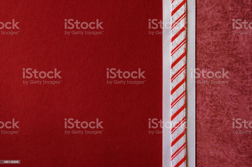 Red Paper Background with Ribbon Border stock photo
