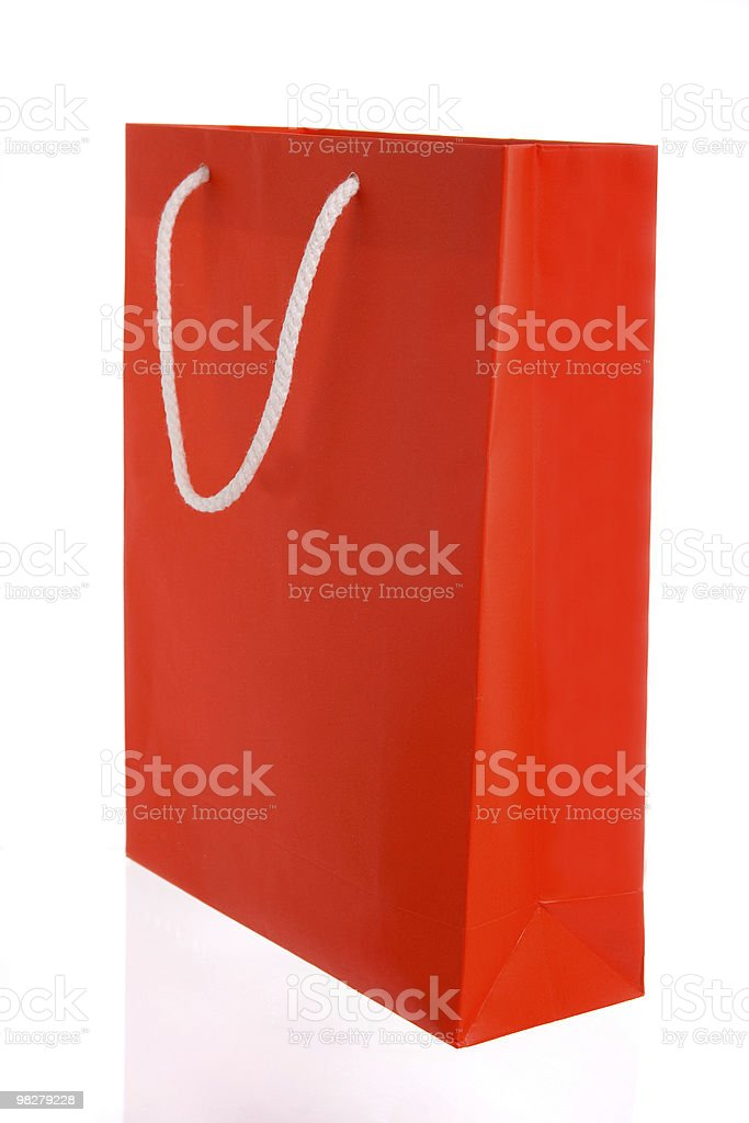 Red paper bag royalty-free stock photo