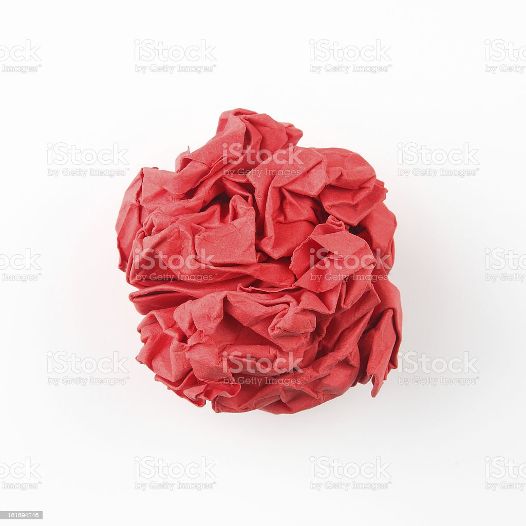 Red Paper Ball royalty-free stock photo