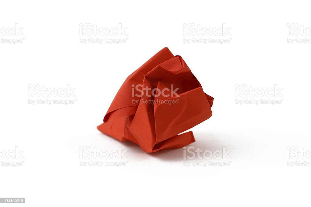 Red paper ball stock photo