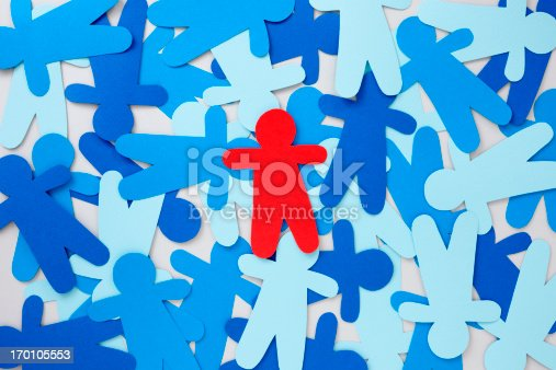 istock Red paper silhouette 170105553