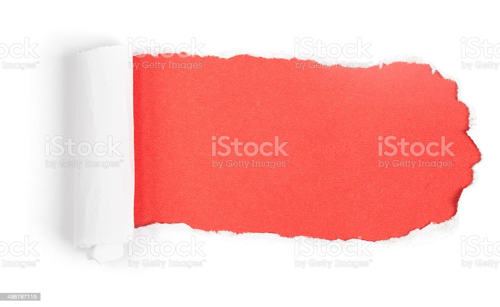 Red Paper Torn stock photo