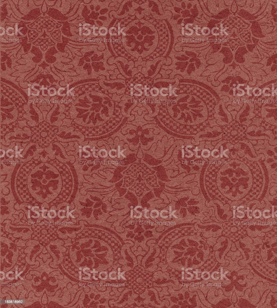 red paper with floral pattern stock photo