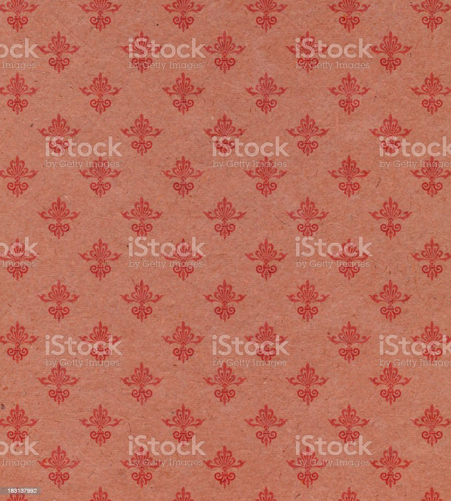 red paper with ornamental pattern royalty-free stock photo