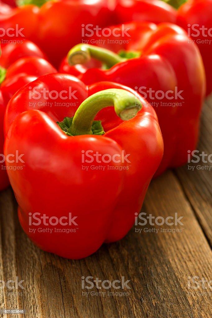 Red Paprika On the Table Lizenzfreies stock-foto