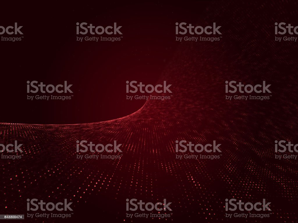 Red Particles, Particles Background - Stock image stock photo