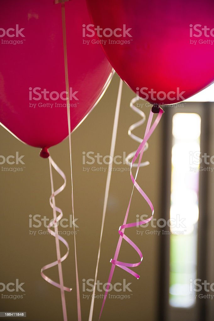 Red party balloons stock photo