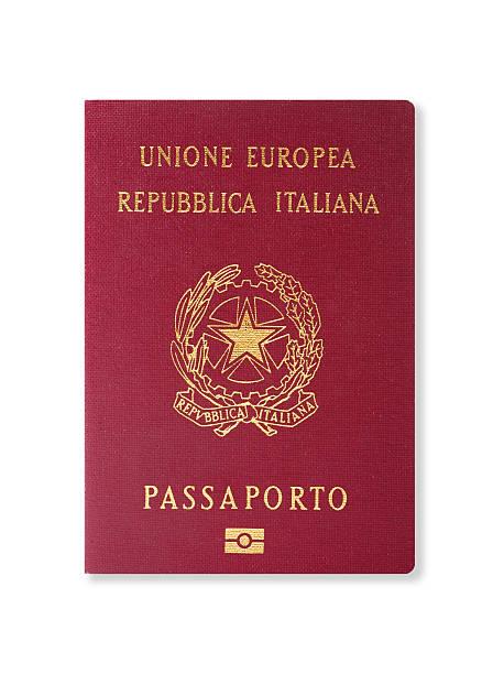 Pasaporte italiano - foto de stock