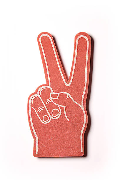 Red Peace Sign stock photo
