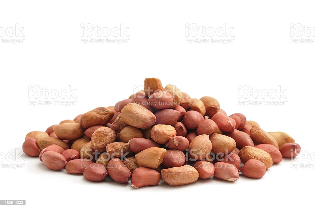 Red Peanuts royalty-free stock photo