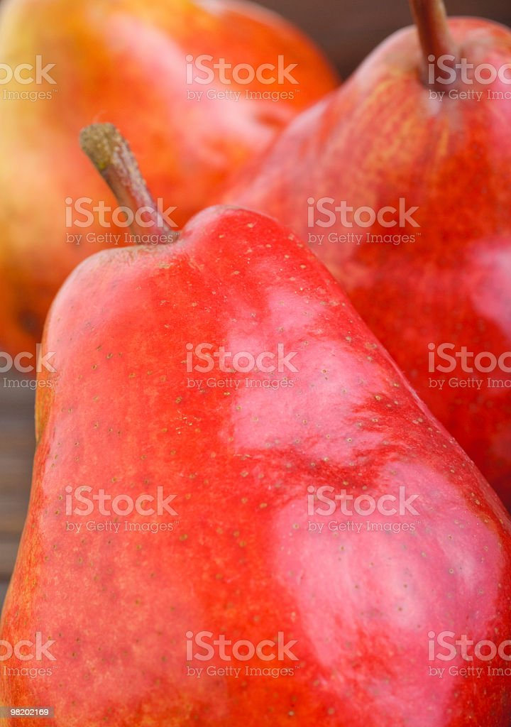 Red pear closeup photo royalty-free stock photo