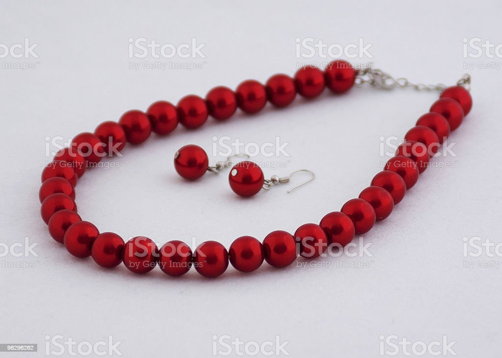 Red Pearls royalty-free stock photo
