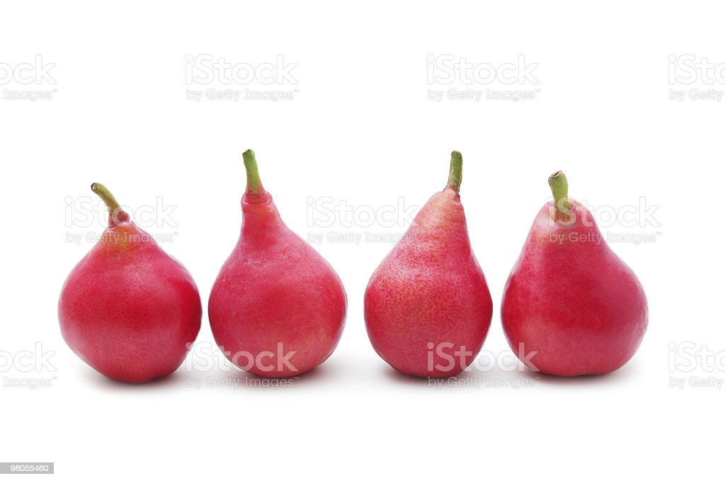 Red pears royalty-free stock photo