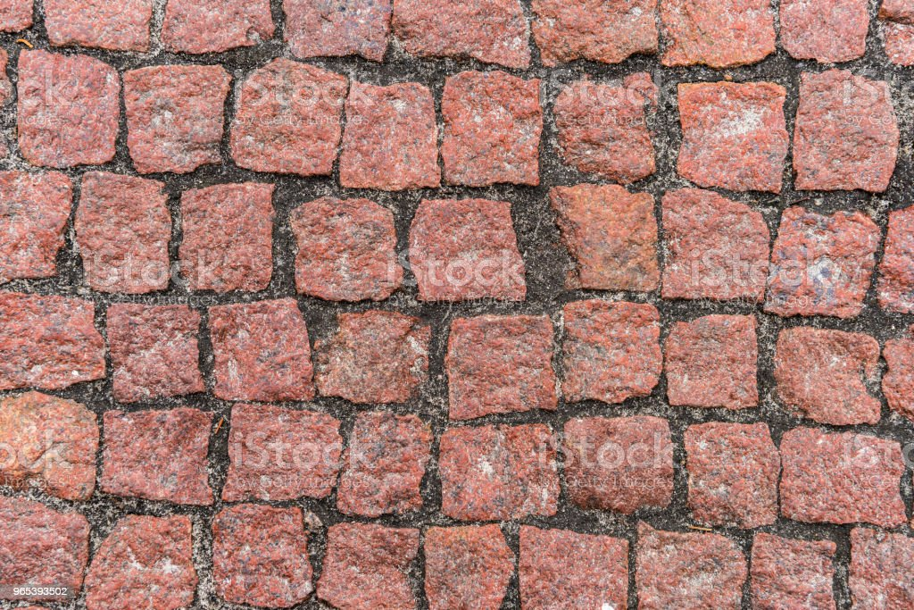 Red pebble stones road surface royalty-free stock photo
