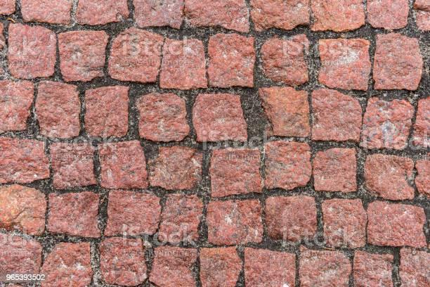 Foto de Superfície De Estrada De Pedras De Seixo Vermelho e mais fotos de stock de Abstrato