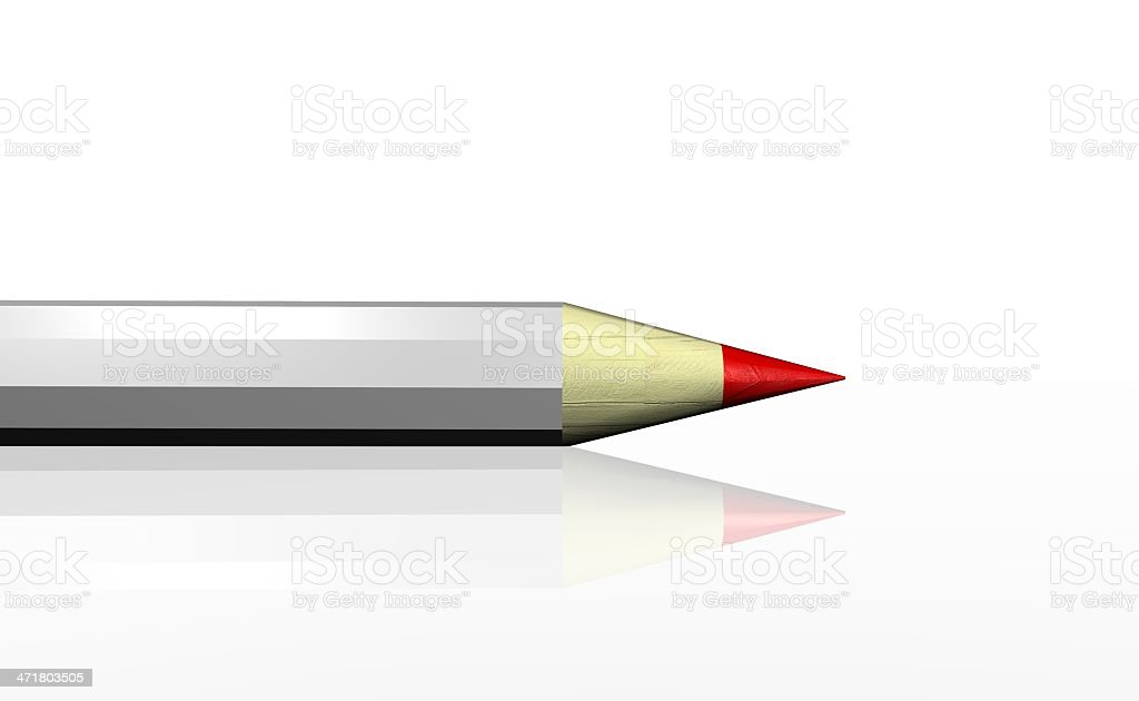 red pencil royalty-free stock photo