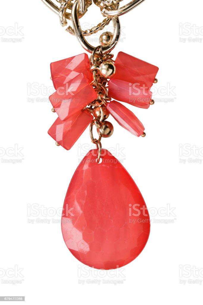 紅色吊墜隔離 免版稅 stock photo