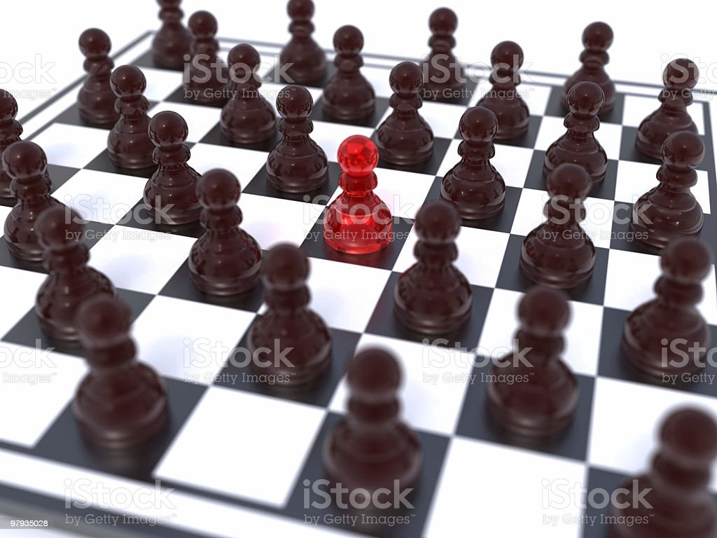 Red peon leader royalty-free stock photo