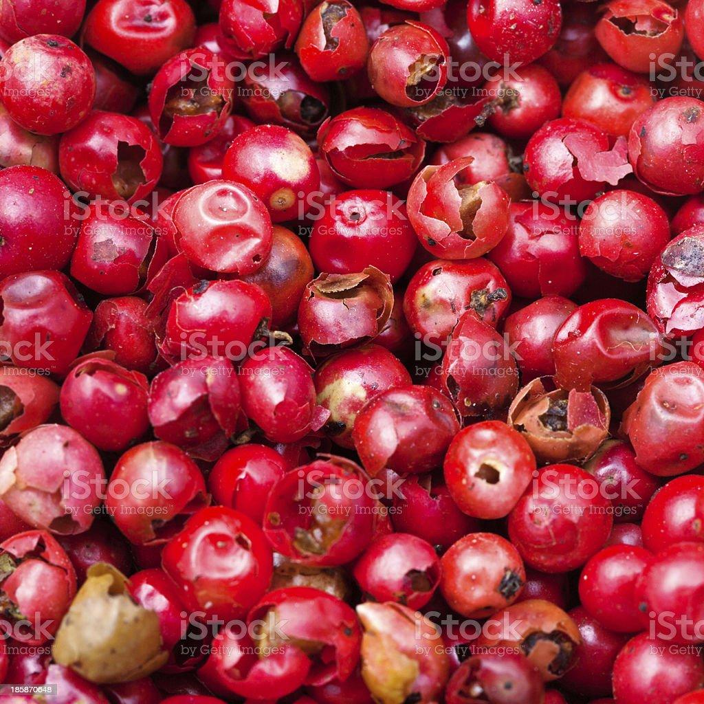 red pepper peppercorns stock photo