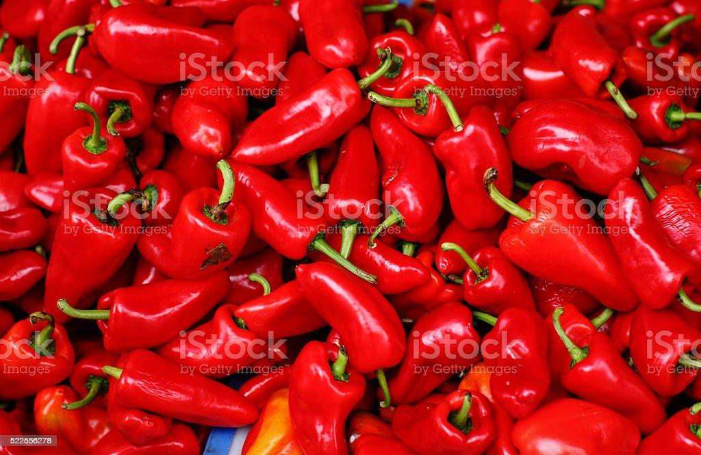 Red Pepper Red Pepper Asian Market Stock Photo