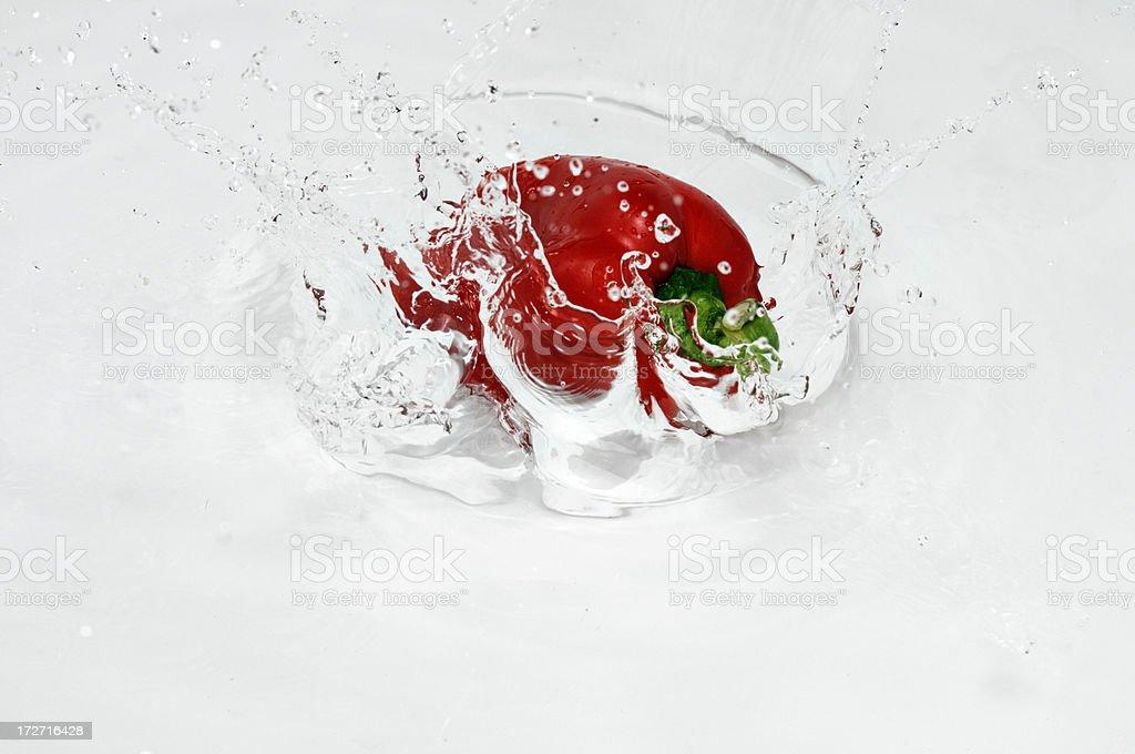 red pepper splashing royalty-free stock photo